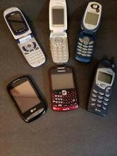 vintage cell phone lot of 6 flip blackBerry Lg Sanyo Nokia parts or repair