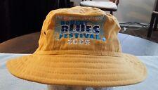 2004 Blues Festival Hat Yellow Pigment Bucket Fishing Sun California