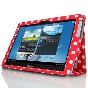 High Quality Samsung Galaxy Note 10.1 Flip Leather Polka Cover N8000 N8010 N8013