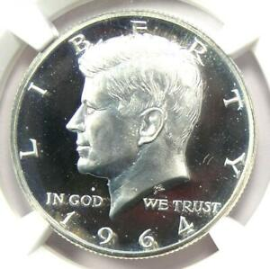 1964 Accented Hair Proof Kennedy Half Dollar 50C - NGC PR68 Cameo - $1,850 Value