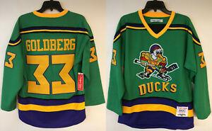 Greg Goldberg Mighty Ducks #33 Headgear Classics Movie Authentic Hockey Jersey