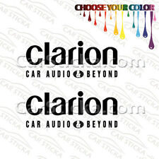 """2 of 8"""" Clarion Audio /A aftermarket car window bumper stickers decals"""