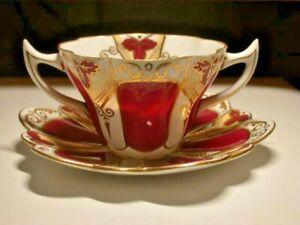 A classic WILEMAN (pre Shelley) BOUILLON CUP & SAUCER -  SNOWDROP shape