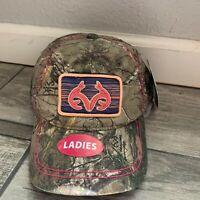 NWT Womens Realtree OSFM Camouflage Camo Hat Hunting Embroidered FISHING Adj.
