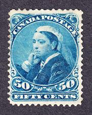 CANADA 1893 SCOTT 47 - QUEEN VICTORIA WIDOW'S WEEDS 50¢ DEEP BLUE - NH
