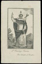 santino incisione 1800  S.VINCENZO FERRERI