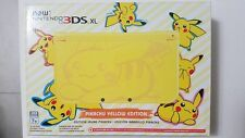 New Nintendo 3DS XL Pikachu Yellow Edition System Brand New RARE USA Fast Ship