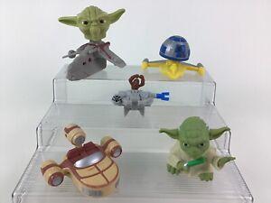 Star Wars Toy Ships Figures Yoda R2-D2 Toys 5pc Lot Mcdonalds Burger King