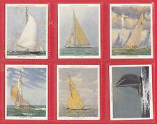 JOHN  PLAYER  &  SONS  -  RARE  SET  OF  L25  RACING  YACHTS  CARDS  -  1938