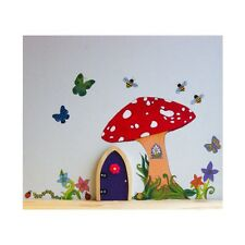 Irish Fairy Door Wall Decal Toadstool Mushroom Fairies Garden Home Accessories