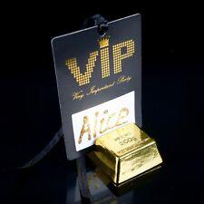 Tischkarte 'VIP Pass' (10Stk.) Very Important Party Feste schwarz gold