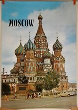 VINTAGE ORIGINAL MOSCOW RUSSIA TRAVEL TOURIST POSTER