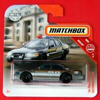 MATCHBOX 2019   ´06 FORD CROWN VICTORIA POLICE   56/100   NEU&OVP