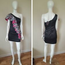 ONE SHOULDER PARTY SILK DRESS,PINKISS BOUTIQUE,UK12,BRANDNEW W/TAGS