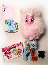 My Little Pony G4 FLUFFLE PUFF Custom Brushable (POMF!) & Rainbow Dash LOT