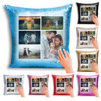 `Personalised Image Collage Sequin Magic Cushion/Pillow Cover