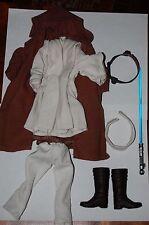 "Obi Wan Kenobi 12"" Outfit-Hasbro-Star Wars Phantom Menace 1/6 Custom Side Show"