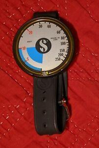 scubapro capillary depth gauge 250 feet #28-852-000 instructions 1980 used bag