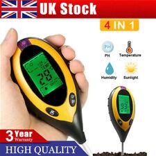 More details for 4 in1 soil ph meter tester lcd digital temperature sunlight fertility hygrmeter