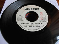 Virgil Brothers NORTHERN SOUL POPCORN DJ 45 Temptation Bout to Get Me / Look Awa