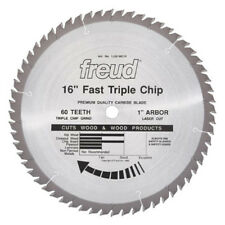 "Freud LU81M016 16-Inch 60 Tooth TCG Stacked Chipboard Cutting Saw Blade 1"" Arbor"