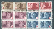 Hungary 1944 Red Cross set of 4 in blocks of 4 sg.772-5 MNH