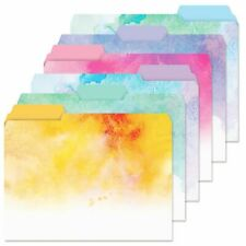 Brushstrokes Floral File Folders Set of 24 Designs Documents Storage New Gift