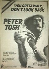 PETER TOSH Don't Look Back 1978  UK Press ADVERT 8x6 inches Reggae