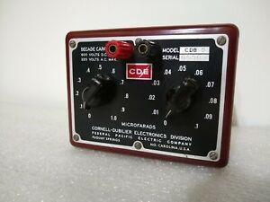 CDB5 Microfarads Decade Capacitor Box CDE Cornell-Dubilier Electronics