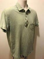 J.Crew Shirt Mens Green Classic Polo Short Sleeve Knit Goods Size L 100% Cotton