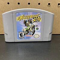 Excitebike 64 - Nintendo 64 N64 Authentic Game Cartridge Cart - Cleaned & Tested