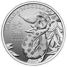 2013 Canada $20 Fine Silver Year of the Snake