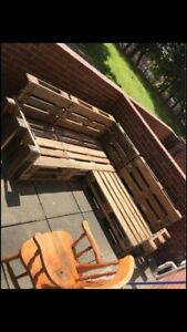 Pallet Corner Sofa 2.0 x 2.0m Outdoor Furniture & Tables Made on Demand