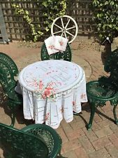 Vintage Round Lace Table Cloth And Napkins
