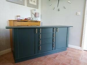 G Plan Green Long Sideboard TV Cabinet Storage Cupboard Drawers Can Deliver