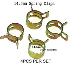 4pcs 14.5mm Steel Band Scooter ATV Fuel Line Hose Tubing Spring Clips Clamps