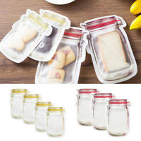 Plastic Resealable Storage Bags Zip Lock Self Seal Food Packaging Pouches