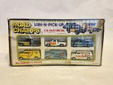 Road Champs Van-N-Pick-Up Die Cast Metal Set No. 9052