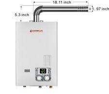 10L 2.64Gpm Tankless Water Heater Indoor Propane Color Display With Vent Pipe