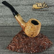 "Hand made Mr.Brog original small smoking pipe nr 32 "" DUCAT "" natural - carved"