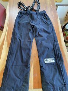 Spyder US SKI TEAM Men's Ski/Snowboard Pants Dermizax Waterproof BLACK BIBS L