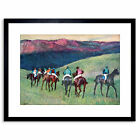 Painting Degas Horse Racing Training Framed Picture Art Print 9x7 Inch