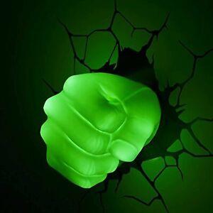 Marvel 3D Wall Light Hulk Fist Battery Operated LED Kids Night Lamp + Sticker