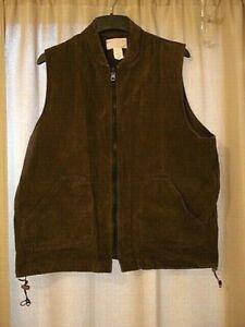 C.C. Filson 151 Brown Cotton Moleskin Vest Liner Men's XL  USA