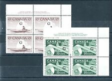 O39a and O45 Cat $19 G overprints Canada mint
