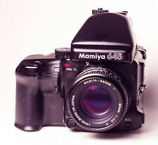 Mamiya 645 Pro TL Mittelformatkamera + Magazin + AE Prisma + Power Grip tested