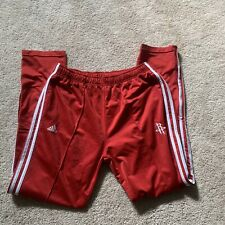 Adidas Houston Rockets Pants Red Three Stripes Authentic Size L