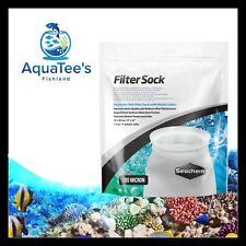 Seachem Filter Sock 100 Micron 10x30cm Sump Fish Tank Marine Reef Fresh Water