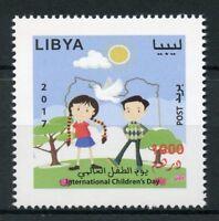 Libya 2017 MNH Intl Children's Childrens Day 1v Set Doves Cartoons Stamps