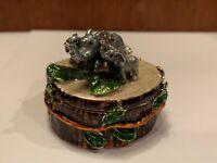 Elephant / Tree Trunk Trinket box by Keren Kopal Enameled Jewelry box
